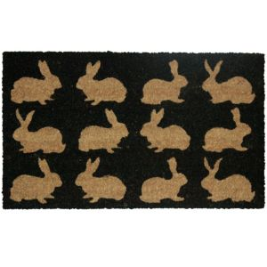 View Colours Bellina Black Rabbit Coir Door Mat (L)750mm (W)450mm details