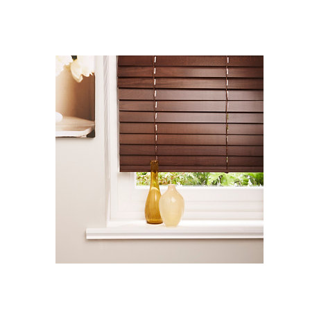 Brown Venitian blinds