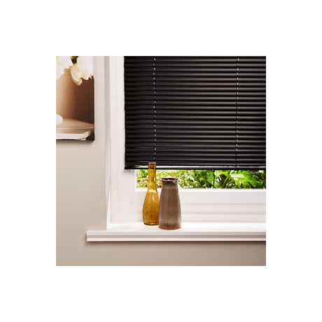 Black Venitian blinds