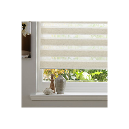 Colours Day amp Night Corded Cream Roller Blind L160 Cm W