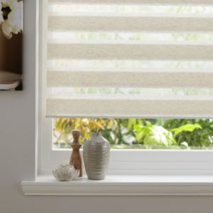 View Colours Day & Night Corded Cream Roller Blind (L)160cm (W)90cm details
