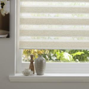 View Colours Day & Night Corded Cream Roller Blind (L)160cm (W)120cm details