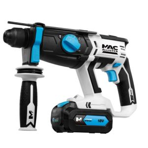 View Mac Allister Cordless 18V Li-Ion SDS Rotary Hammer Drill 2 Batteries MERH18-LI details