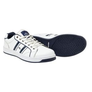 Rigour Navy & White Action Leather Steel Toe Cap Trainers  Size 9
