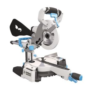 View Mac Allister 1400W 210mm Sliding Compound Mitre Saw MMSP1400DL details
