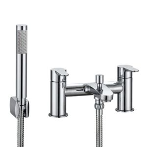 View Cooke & Lewis Calista Chrome Bath Shower Mixer Tap details