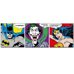 Image of Dc Faces Multicolour Wall Art Set (W)300mm (H)300mm