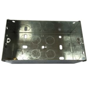 B&Q 47mm Metal Double Box
