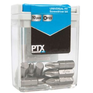 View PTX PZ2 Standard Screwdriver Bit Set 25mm Pack of 10 details
