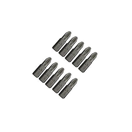 ptx pz3 standard screwdriver bit set 25mm pack of 10 departments diy at b q. Black Bedroom Furniture Sets. Home Design Ideas