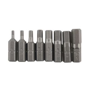 View PTX Mixed Hex Screwdriver Bit 25mm Pack of 8 details