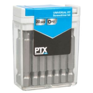 View PTX Mixed Standard Screwdriver Bit Set 50mm, 20 Pieces details
