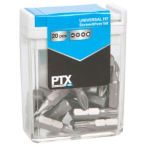 View PTX Mixed Standard Screwdriver Bit Set 25mm Pack of 10 details