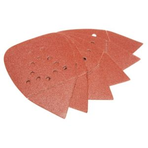 View PTX 80 Grit Detail Palm Sanding Sheet (L)135mm (W)95mm, Pack of 5 details