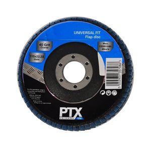 Image of PTX 40 grit Flap disc (Dia)115mm