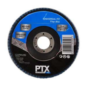 Image of PTX 40 Grit Flap disc (Dia)115mm of 1