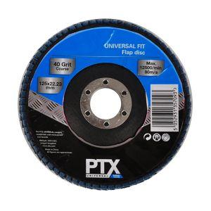 Image of PTX 40 grit Flap disc (Dia)125mm