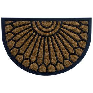Image of B&Q Black & Natural Half Moon Coir & Rubber Door Mat (L)400mm (W)400mm