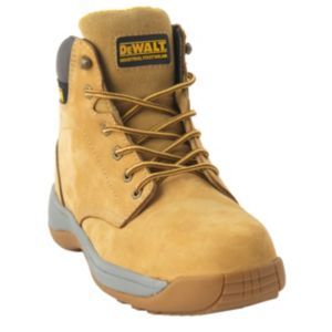 Image of DeWalt Honey Nubuck Leather Steel Toe Cap Safety Boot Size 7
