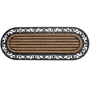 Image of B&Q Black & Natural Coir & Rubber Door Mat (L)0.45m (W)450mm