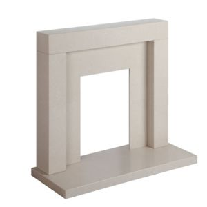 View Cream Micromarble Fire Surround Set details