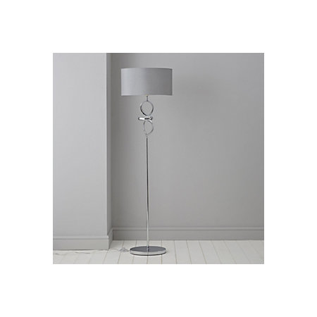Hadwick Twisted Chrome Effect Floor Lamp Departments Diy At B Amp Q