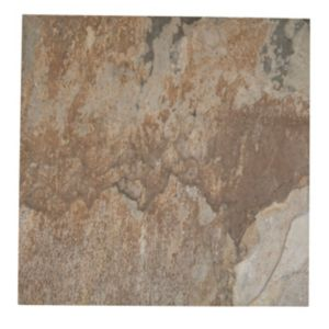 Wave Soil Brown Stone Effect Porcelain Floor Tile Pack of 5 (L)450mm (W)450mm