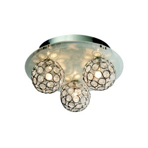 Image of Chameleon Crystal Circle Colour Changing 3 Lamp Ceiling Light