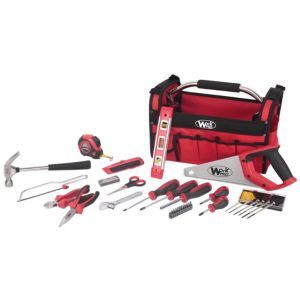 View WorkPro 41 Piece Tool Kit In Open Tote Bag details