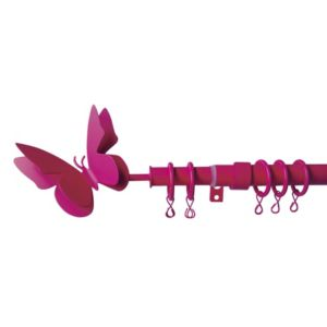 View Colours Butterfly Fushia Gloss Extendable Curtain Pole (L)120-210cm details