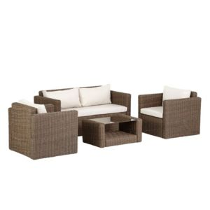 View Soron Rattan Effect 4 Seater Coffee Set details