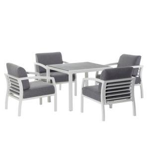 sydney metal 4 seater dining set departments diy at b q
