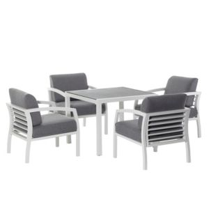 View Sydney Metal 4 Seater Dining Set details