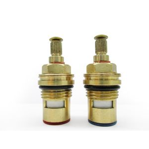 """Image of Plumbsure Brass Thread Tap gland with 1/4 turn ceramic seal (Thread)1/2"""" (Dia)10mm Set of 2"""