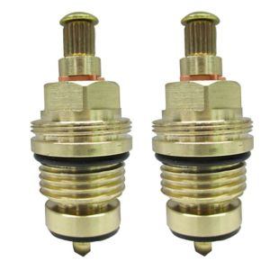 """Image of Plumbsure Brass Thread Tap gland With Rubber Seal Threaded Collar (Thread)1/2"""" (Dia)8mm Set of 2"""