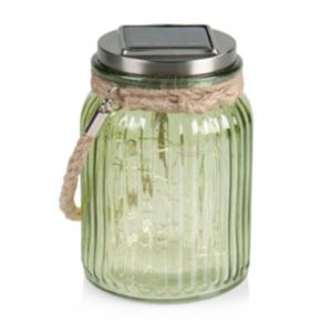 View Blooma Gallant Green Jar Solar Powered LED Lantern details