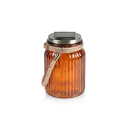 Blooma gallant amber jar solar powered led lantern for Bookmark creator jar