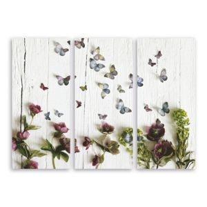View Butterfly & Floral Trail Multicolour Canvas (W)40cm (H)90cm details
