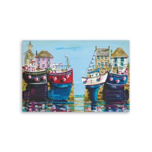 View Dockyard Multicolour Canvas (W)60cm (H)40cm details