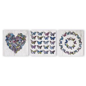 View Butterfly Collage Multicolour Canvas (W)30cm (H)30cm details
