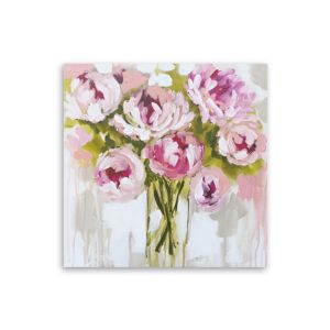 Image of Floral Pink Canvas Art (W)900mm (H)900mm