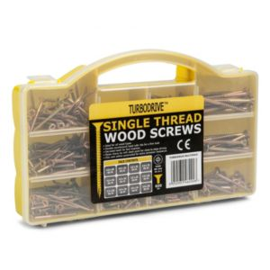 View Turbodrive Single Thread Woodscrews Pack of 600 details