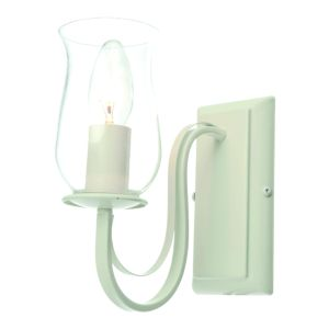 Chateau Satin Porcelain Effect Single Wall Light