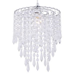 colours agassiz clear effect beaded pendant light
