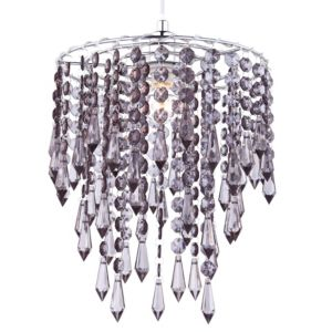 colours agassiz smokey beaded pendant light shade d 25cm