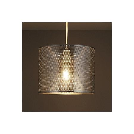 Colours bilina chrome effect cutout light shade d 250mm for B q bedroom lighting