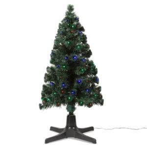 4ft Rotating Fibre Optic LED Christmas Tree