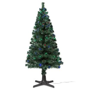 6ft 6In Rotating Fibre Optic LED Christmas Tree