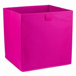 Image of Mixxit Pink Fabric Storage basket (H)310mm (W)310mm