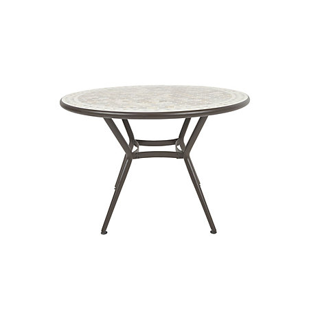 NEW BOXED Sofia Metal 4 Seater Dining Table OUR SALE ITEM HEAVY